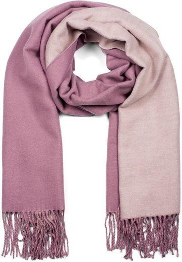styleBREAKER Schal »2-Farbiger Schal mit Fransen« 2-Farbiger Schal mit Fransen