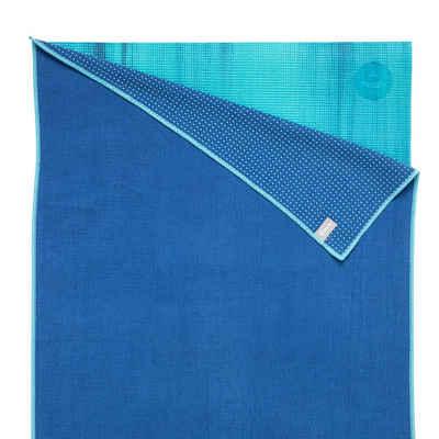 bodhi Sporthandtuch »Yogatuch GRIP ² - Zweifarbig blau/aqua«