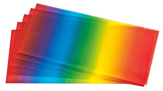 Folia Transparentpapier »Regenbogen«, 5 Bogen