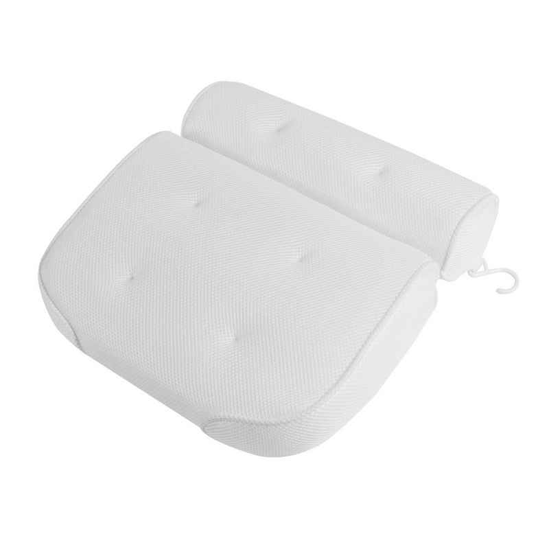 Nackenstützkissen, »Badewannenkissen Luxus Badewanne & Spa-Kissen mit 4D-Air-Mesh-Technologie und 6 Saugnäpfen«, BIGTREE, (1-tlg), Geeignet für Badewannen und Home Spa