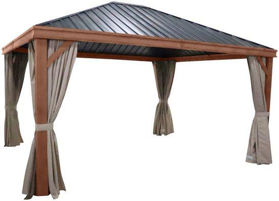 Leco Pavillonseitenteile, mit 4 Seitenteilen, für Luxus-Hardtoppavillon
