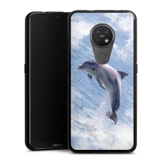 DeinDesign Handyhülle »Springender Delphin« Nokia 7.2, Hülle Delfine Meer Wal