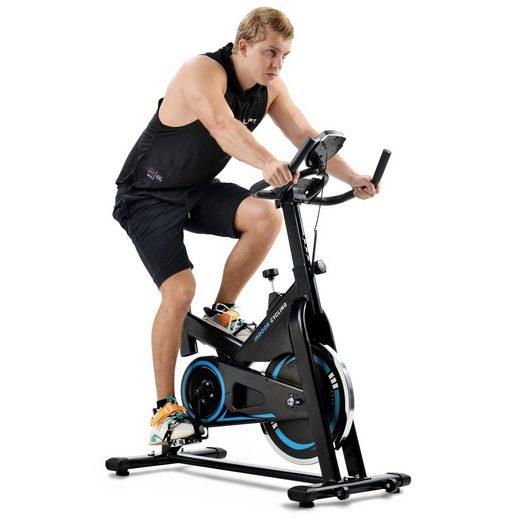 Merax Speedbike, Cardio-Training Heimtrainer mit LCD-Konsole und 13 kg Schwungrad, belastbar bis 130 kg