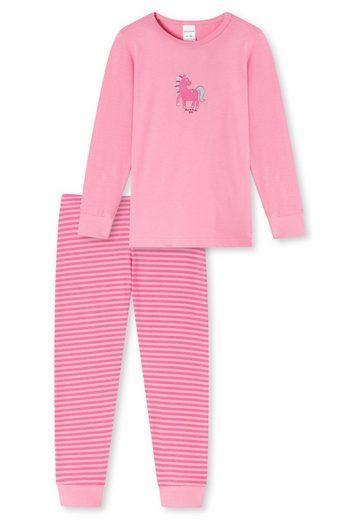 Schiesser Pyjama »Mädchen Schlafanzug - langarm, Kinder, Baumwolle,«