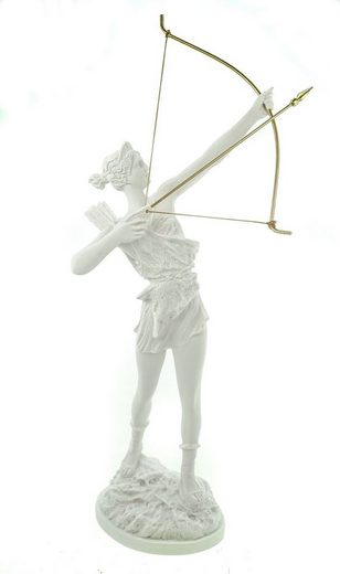 Kremers Schatzkiste Dekofigur »Alabaster Artemis griechiche Göttin der Jagd Figur 41 cm«