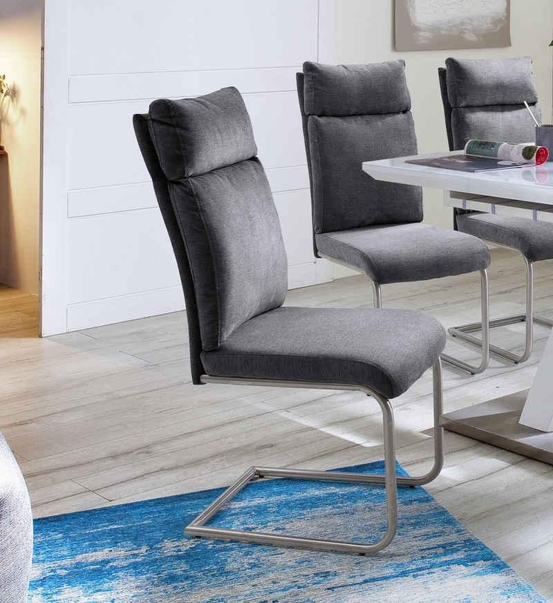 MCA furniture Freischwinger »PIA« (Set, 2 Stück), Stuhl belastbar bis 120 kg, Kissenoptik