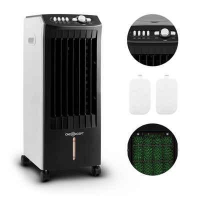 ONECONCEPT Ventilatorkombigerät MCH-1 v2 3-in-1 Luftkühler Ventilator Luftbefeuchter 360 m³/h 65 Watt 7 Liter 3 Geschwindigkeiten Oszillation Fernbedienung mobil