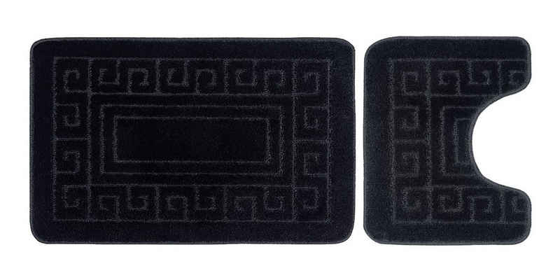 Badaccessoires-Sets »Griechisches Badematten-Set & Sockelmatte 2 Stück« Heimtex, Anti-Rutsch, Weich & Komfortabel, Wasserabsorbent