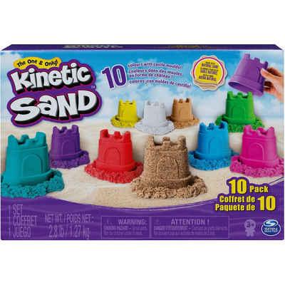 Spin Master Spielsand »Kinetic Sand Burgenförmchen mit Sand 10er - Set«