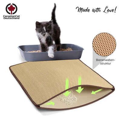 Canadian Cat Company Katzentoilette »Zaubermatte - beige«, Premium Katzenstreu Matte - große Katzenklo Matte als Vorleger für Katzentoilette