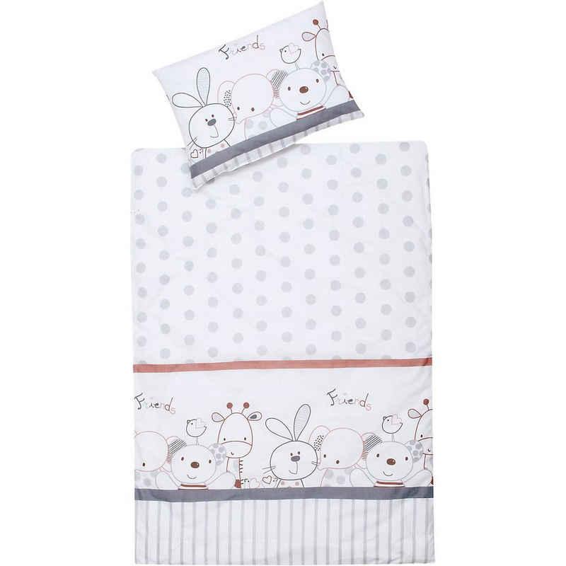 Bettwäsche »Kinderbettwäsche Mimi, Baumwolle, weiß, 100 x 135«, Schardt