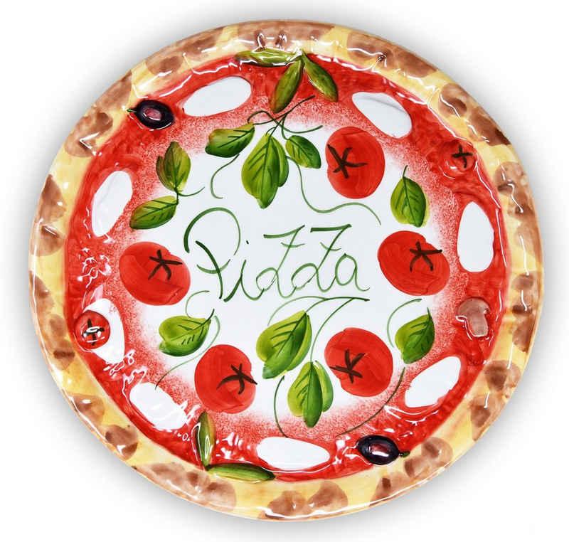 Lashuma Pizzateller »Mozzarella Tomate«, Servierteller groß, Runde Pizzaplatte Ø 33 cm
