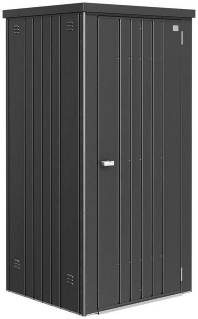 Biohort Geräteschrank Gr. 90, B/T/H: 93/83/182,5 cm, dunkelgrau metallic
