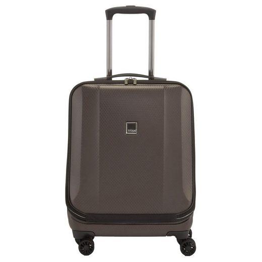 "TITAN® Business-Koffer »Xenon Deluxe 4-Rollen Businesstrolley 17"" 55 cm«, 4 Rollen Rollen"
