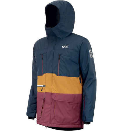 Picture Skijacke »PICTURE Pure Wintersport-Jacke mehrfarbige Ski-Jacke für Herren Hardshell-Jacke Blau/Camel/Rot«