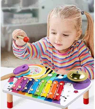Wenta Spielzeug-Musikinstrument »Baby Musikinstrumente Holz Regenbogen Xylophone Kinder Früherziehung Musikalisches Spielzeug Set für Jungen und Mädchen ab 3 Jahren«