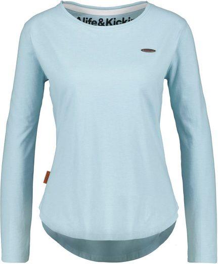 Alife & Kickin T-Shirt »LeaAK A« unifarbenes Shirt mit Rundbogensaum
