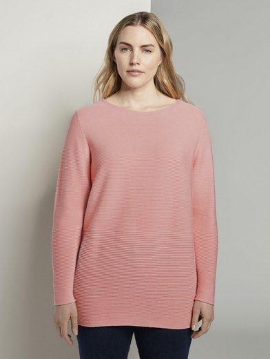 TOM TAILOR MY TRUE ME Schalkragenpullover »Weicher Ottoman Pullover«
