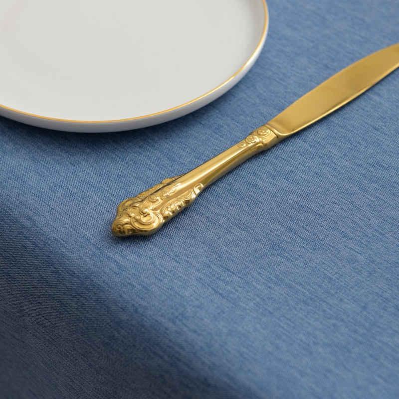 Yebeda Tischdecke »LH«, Wasserdicht Fleckschutz Baumwolle Leinen Tischdecke, Einfache Moderne Tischdekoration