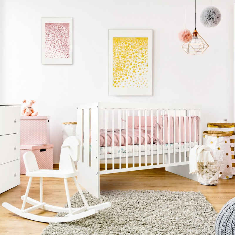 Kids Collective Babybett »60x120 cm in weiß oder grau«, optional mit Matratze