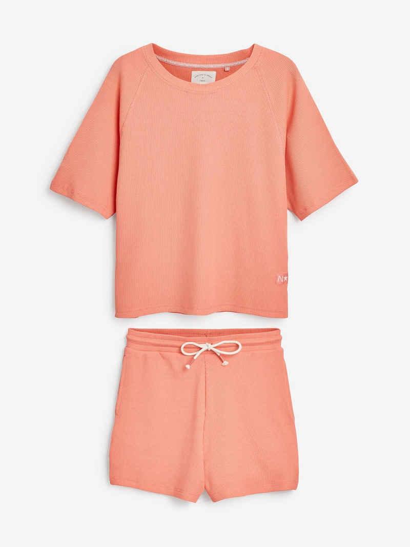 Next Pyjama »Kurzer Anzug aus Baumwollgemisch in Waffelstruktur« (2 tlg) Short Set