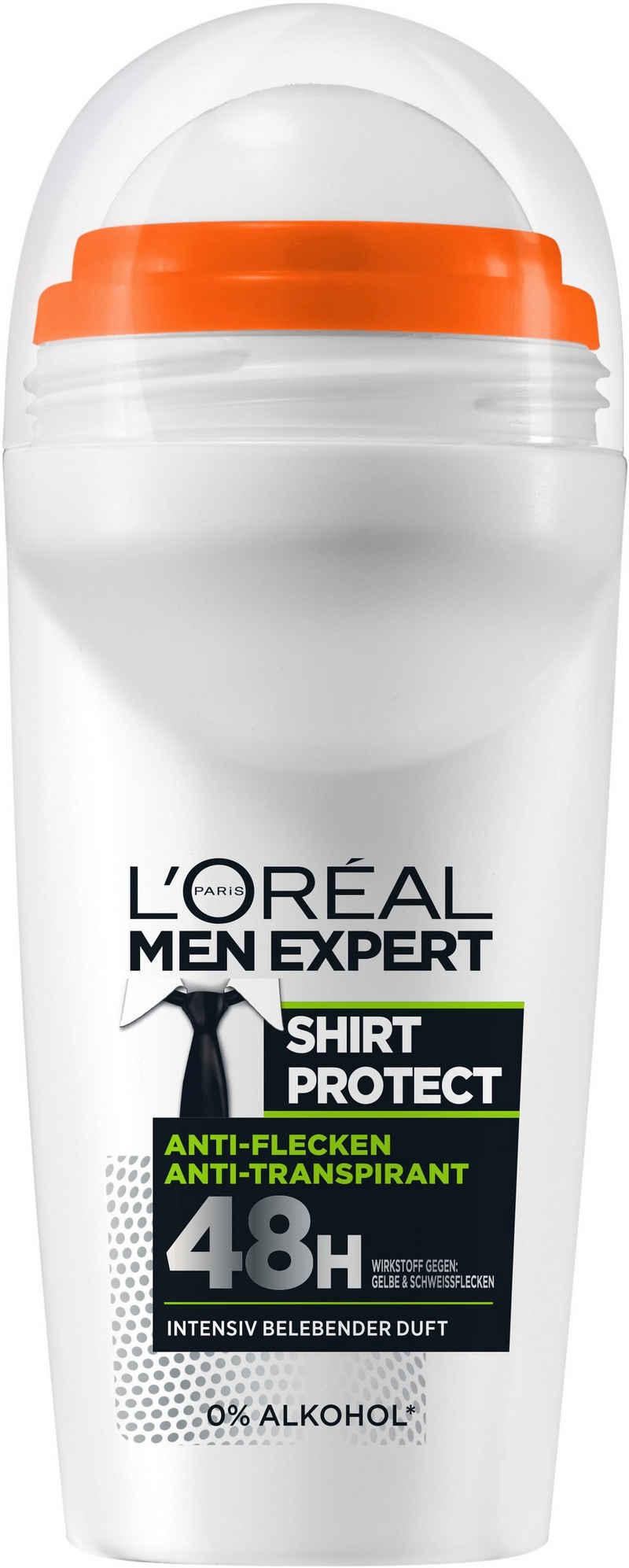 L'ORÉAL PARIS MEN EXPERT Deo-Roller »Shirt Control«, Schützt vor weißen Rückständen & Textilverhärtungen