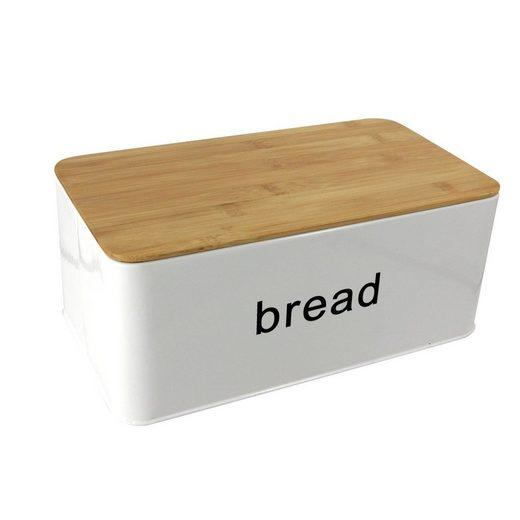 Neuetischkultur Brotkasten »Brotkasten mit Schneidebrett Bread«, Metall, (2-tlg)