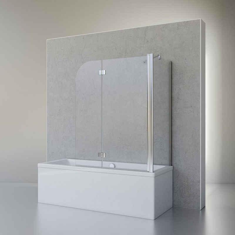 Schulte Badewannenfaltwand »Angle«, 5 mm ESG, (3 tlg), 2-teilig (112 x 142 cm) mit Seitenwand