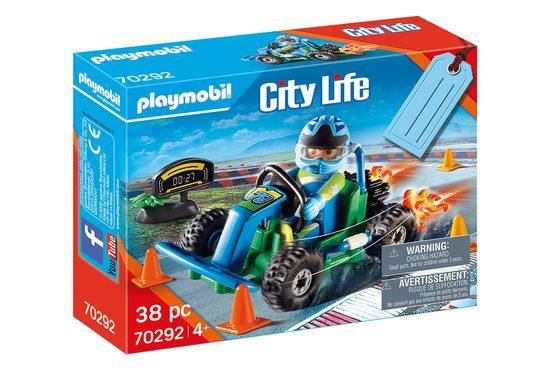 """Playmobil® Spielzeug-Rennwagen »Playmobil City Life 70292 Geschenkset """"Go Kart-Rennen"""" Rennfahrer mit Turbo-Kart«"""