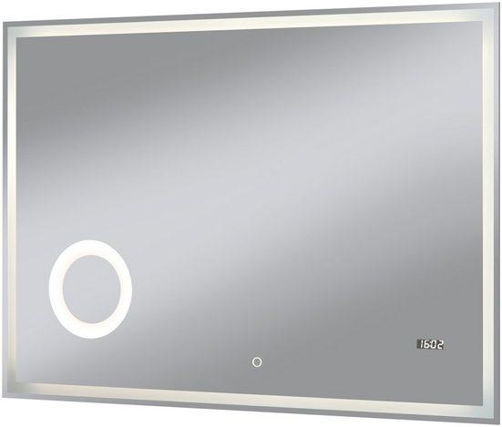 Badspiegel »Flex«, 100 x 70 cm, umlaufende LED-Beleuchtung