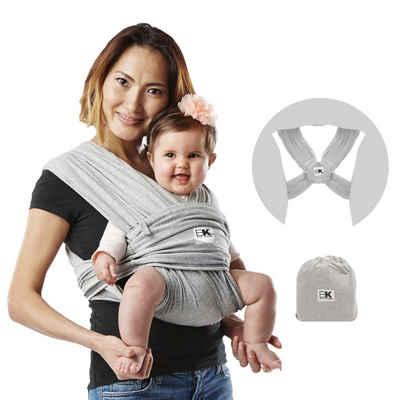 Baby K'tan Babytrage »Baby K'tan Babytrage Original hellgrau«, - ergonomische Positionierung des Säuglings, - keine Schnallen, Ringe oder Verschlüsse, - einfaches Anziehen wie ein T-Shirt, - 5 Tragepositionen