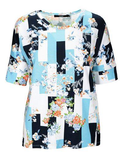 Clarina Rundhalsshirt »BERTA« mit Allover-Print