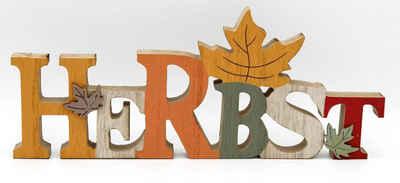 LB H&F Lilienburg Deko-Schriftzug »Schriftzug Herbst Deko Herbstdeko Dekofigur Herbstblatt Dekoration Holz Blatt Tischdeko Aufsteller Buchstaben SCHRIFTZUG BLATT«