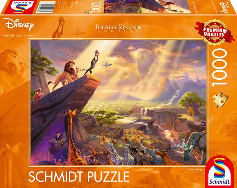 Schmidt Spiele Puzzle »Disney, König der Löwen«, 1000 Puzzleteile, Thomas Kinkade; Made in Europe