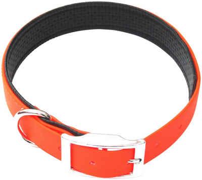 HEIM Hunde-Halsband »Biothane«, Biothane, gefüttert, neonorange, in 4 Größen