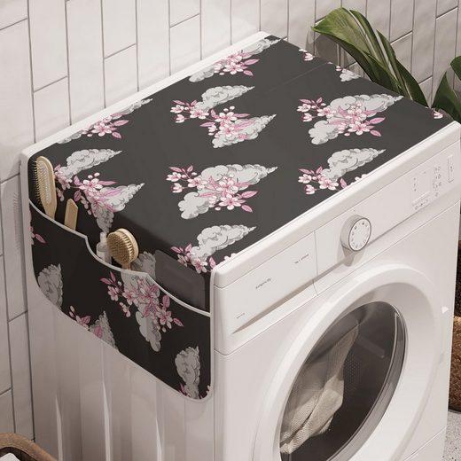 Abakuhaus Badorganizer »Anti-Rutsch-Stoffabdeckung für Waschmaschine und Trockner«, Blumen Sakura-Blüten auf Wolken