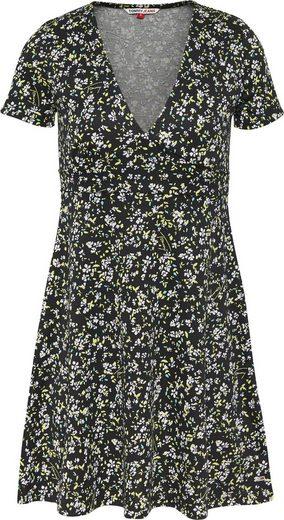 Tommy Jeans Jerseykleid »TJW FIT FLARE FLORAL PRINT DRESS« mit allover Mille-Fleur Print