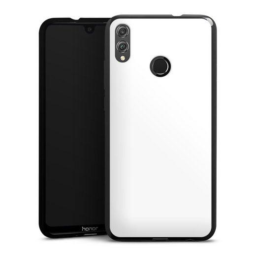 DeinDesign Handyhülle »Brillantweiß« Huawei Honor 8X, Hülle einfarbig weiß Thermomixmotive