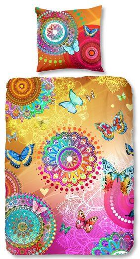Bettwäsche »hip Satin Bettwäsche ZOALA«, hip, mit Mandalas, Ornamenten und Schmetterlingen