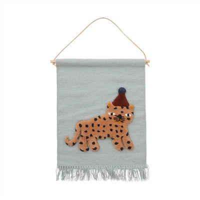 Wandteppich »Leopard«, OYOY, Wandaufhänger, Wandbehang, Wanddekoration, Kinderzimmer, Babyzimmer