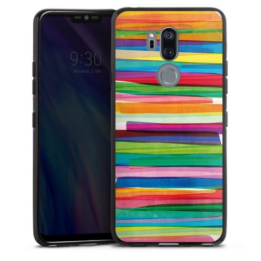 DeinDesign Handyhülle »Colorful Stripes1« LG G7 ThinQ, Hülle Streifen Wasserfarbe