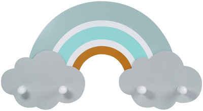 Kindsgut Garderobe (1 Stück), Regenbogen-Garderobe für Kinder, Finn, Holz, Kleidung, Bekleidung, für Mädchen und Jungen, getestet, umweltfreundlich