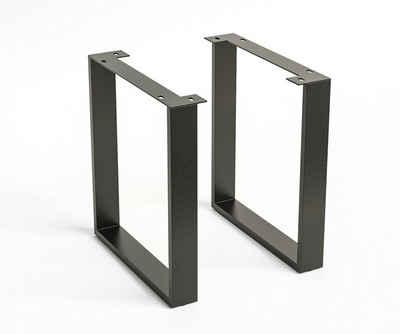 DELIFE Tischbein »Metall«, Metall (2er- Set) Tischgestell