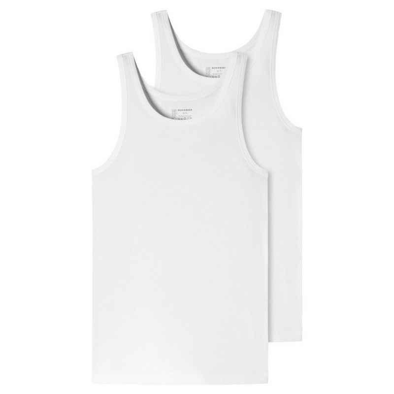 Schiesser Unterhemd »2er-Pack - 95/5 - Organic Cotton« (2 Stück), Unterhemd - Tiefer Rundhalsausschnitt, Perfekter Sitz, Elastische Single-Jersey Qualität