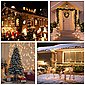 GlobaLink LED-Lichterkette, GlobaLink 100m 500Leds LED Lichterkette Außen Weihnachtsbeleuchtung IP44 mit Stecker 8 Modi für innen und außen Hochzeit Party Garten Deko - Warmweiß, Bild 5