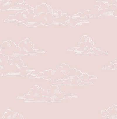 Art for the home Vliestapete »Vintage Wolken«, (1 St), Rosa - 10mx53cm