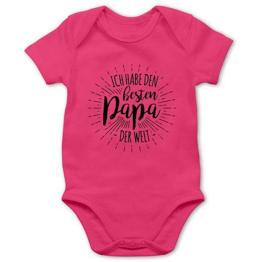 Shirtracer Shirtbody »Ich habe den besten Papa der Welt - Baby Body Kurzarm - Strampler & Bodies« Vatertagsgeschenk Tochter & Sohn Kinder