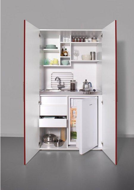 Schrankküche mit Kochplatten und Kühlschrank | Küche und Esszimmer > Küchen > Miniküchen | OTTO