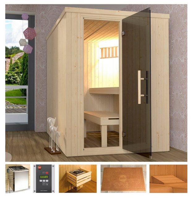 Saunen und Zubehör - weka Sauna »Classic«, BxTxH 154 x 194 x 199 cm, 68 mm, 7,5 kW Ofen mit ext. Steuerung  - Onlineshop OTTO