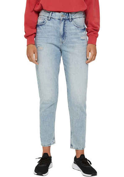 edc by Esprit Mom-Jeans im destroyed-Look